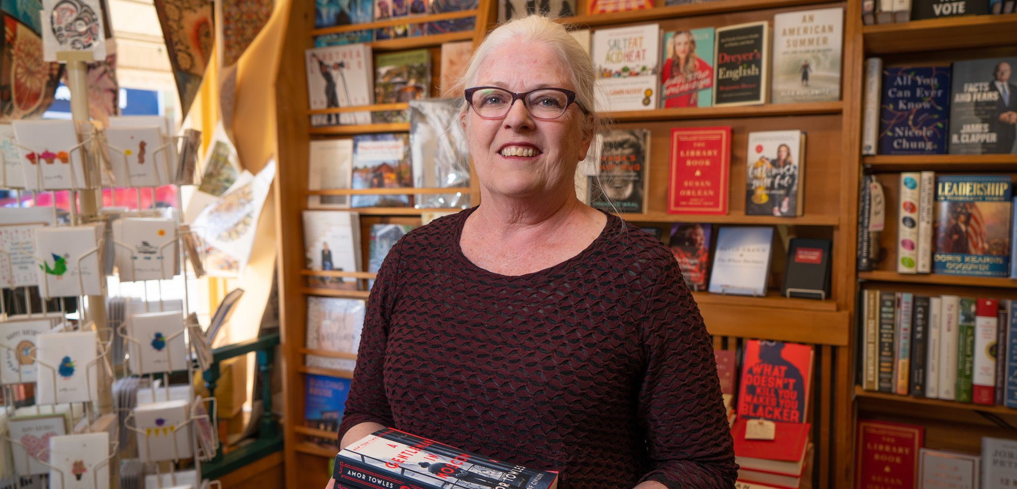 Mary Kay Sneeringer of the Edmonds Bookshop